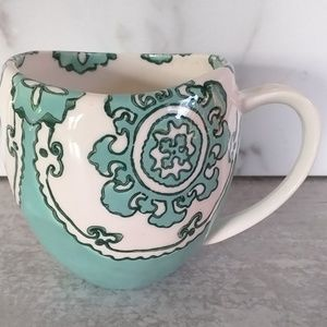 Anthropologie Gloriosa Green Mug Ceramic